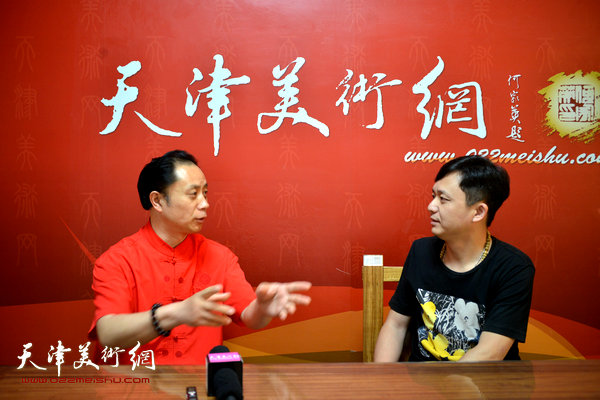 著名画家张大功做客天津美术网