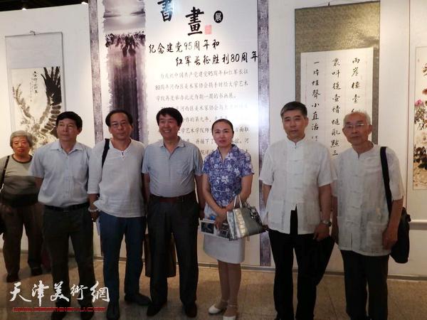 河西区庆祝建党95周年和长征胜利80周年书画展开幕