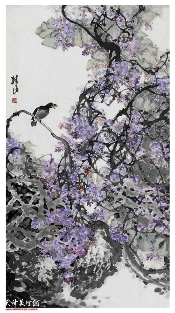 紫藤花發午風微
