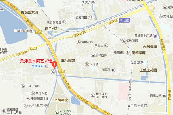 天津美术网艺术馆地图