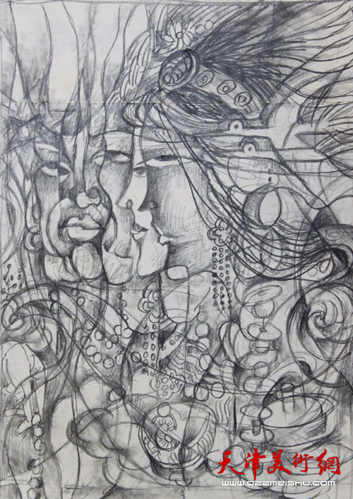 风鸣(铅笔草图