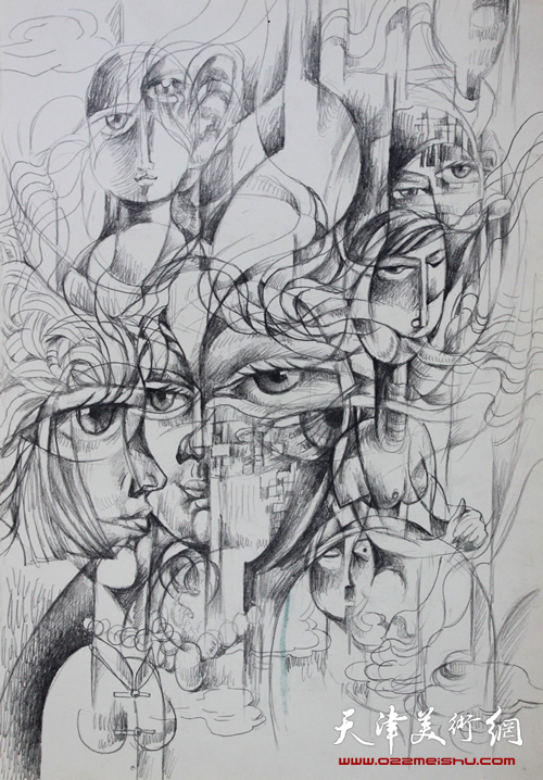 记忆(铅笔草图2010年20X30厘米)_3012