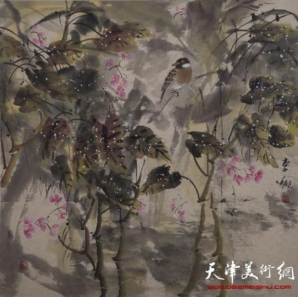 早春(彩墨画)