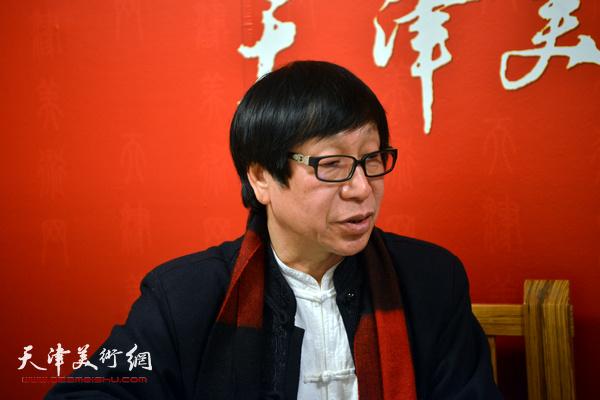 著名画家张葆东做客天津美术网