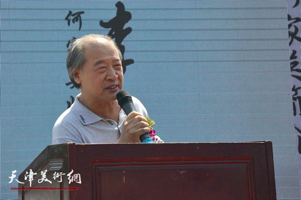天津美术家协会主席王书平致辞。