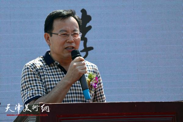 天津画院党组书记张桂元致辞。