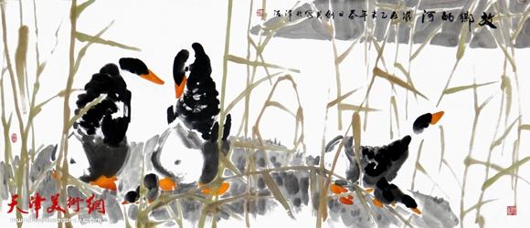 曹剑英作品《故乡的河》