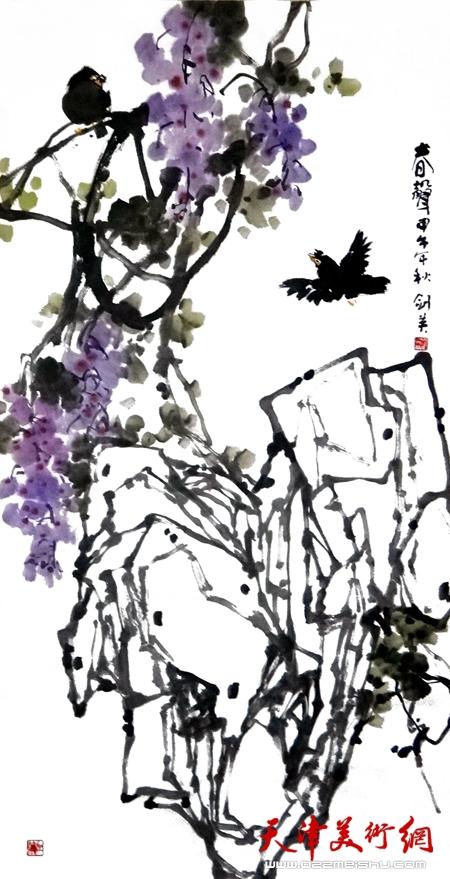 曹剑英作品《春声》