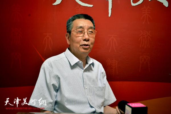 著名画家曹剑英做客天津美术网