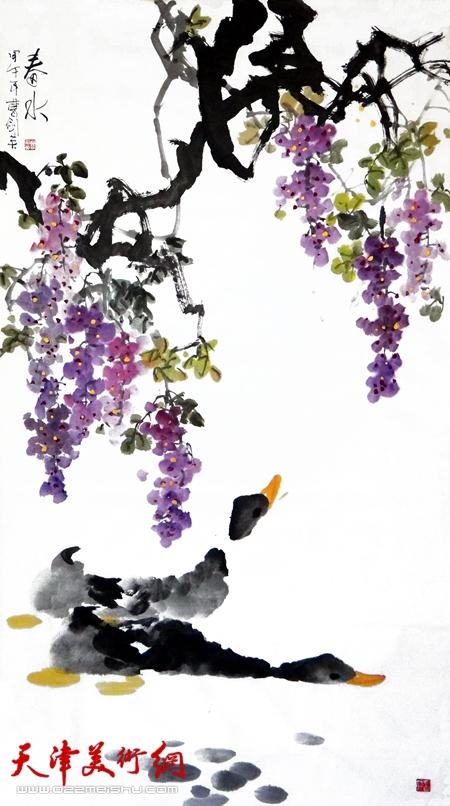 曹剑英作品《春水》