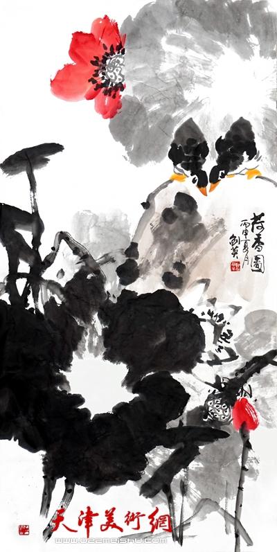 曹剑英作品《荷香图》