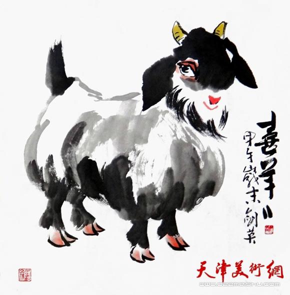 曹剑英作品《喜羊羊》