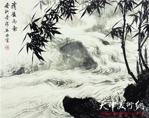 [天津美术网]:除了竹子,马,其他的题材像花鸟和山水您也涉猎吗?
