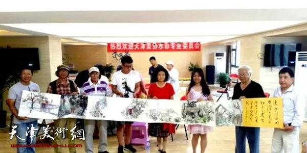 天津水彩画专委会水彩研讨,学术讲座在青岛举行