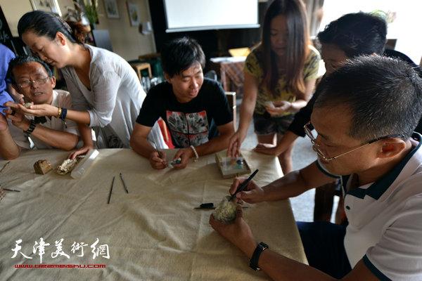 五位雕刻艺术家相聚三实学堂
