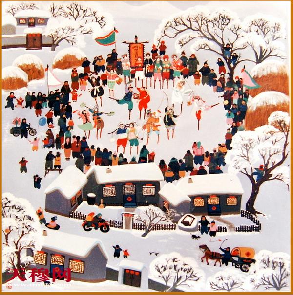 农民画  迎新年