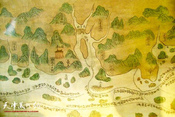 图2 郑和航海图 (局部)