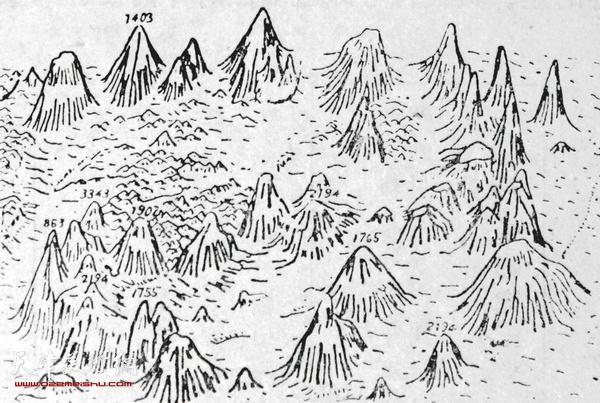 """图3 用""""写景法""""绘制的""""海洋自然地理图""""(局部示意)"""