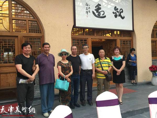 吕大江、李澜与胡永凯夫妇、袁辉、李爱国。