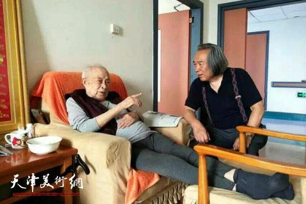 霍春阳看望恩师孙其峰先生。