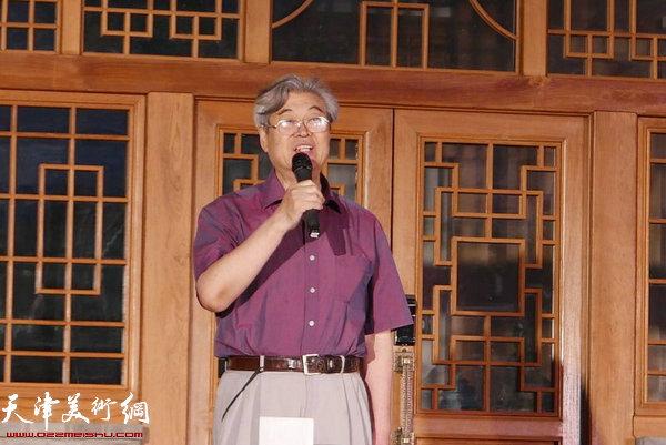 中国画马艺术研究会艺术顾问杨力舟致辞
