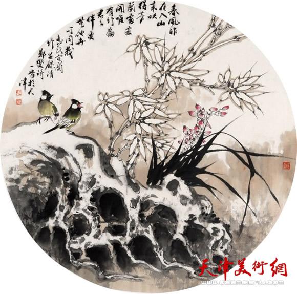 王惠民作品《春风昨夜入山来》