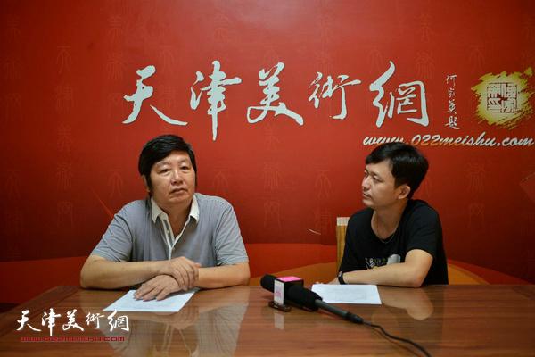 著名画家王惠民做客天津美术网