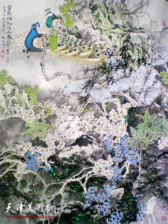 王惠民作品《翠羽繁花》