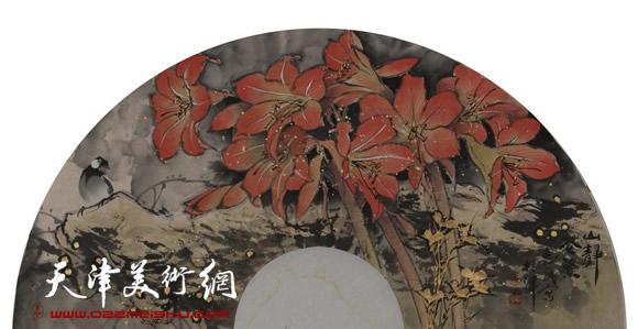王惠民作品《山静花繁》