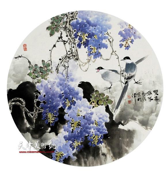 王惠民作品《双喜鸣春》