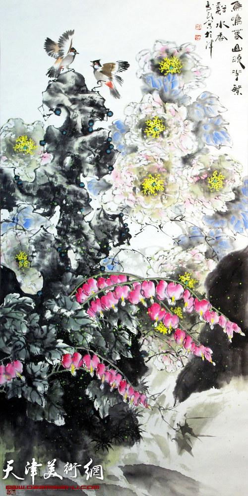 王惠民作品《素艳含娇》