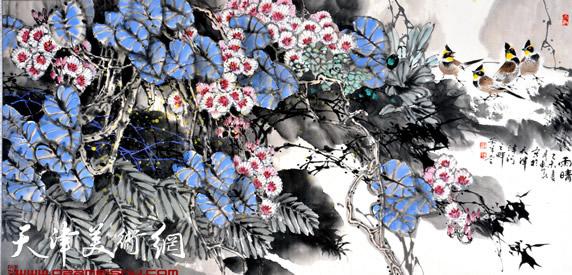 王惠民作品《雨晴》