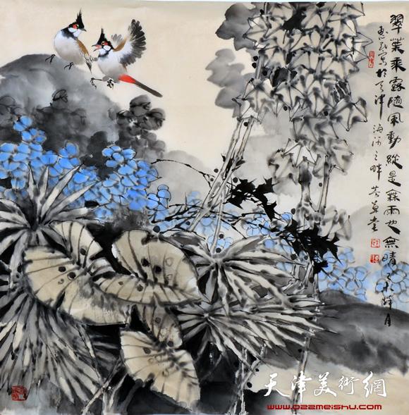 王惠民作品《翠叠乘风随风动》