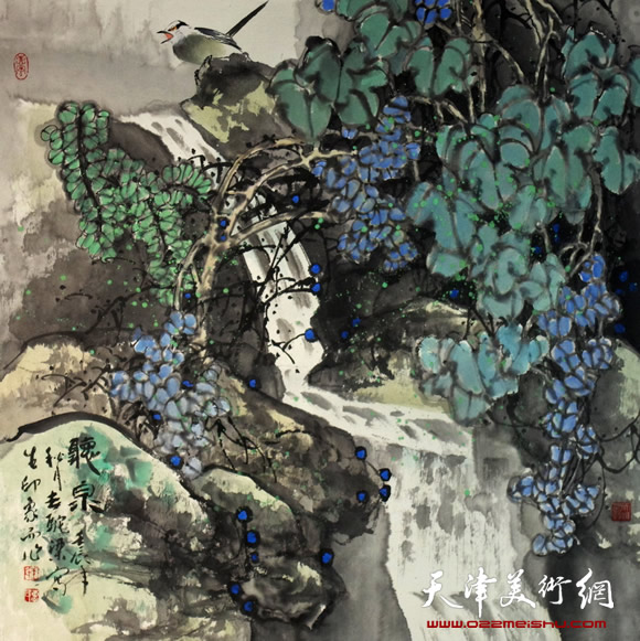 王惠民作品《听泉》