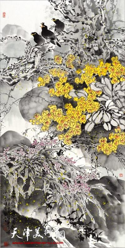 王惠民作品《幽幽泉鸣露兰香》