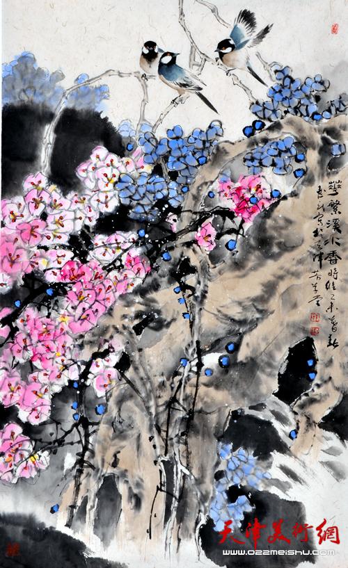 王惠民作品《花繁溪水香》