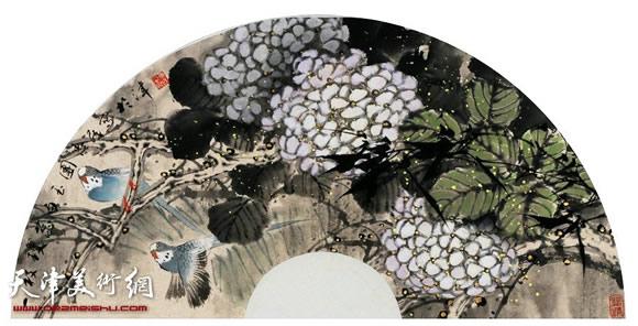 王惠民作品《一枝琼 蕊白玉团》