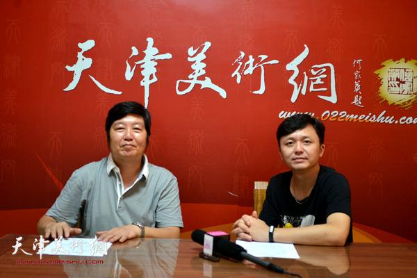 著名花鸟画家王惠民做客天津美术网。
