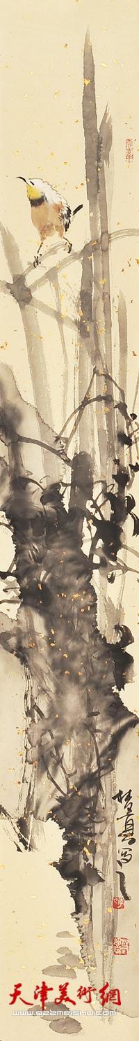 李根友作品《花鸟四条屏-4》