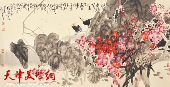 李根友作品《海棠秋色》