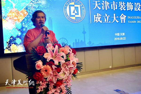 联合国国际生态生命安全科学院院士、中国家装教父余静赣博士致辞。