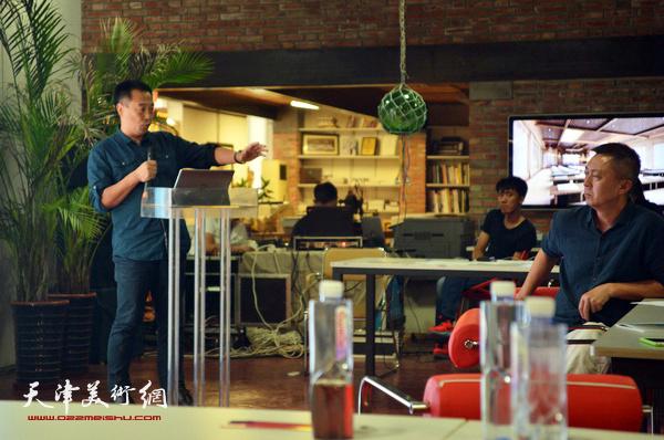 南开大学文学院教授、博士生导师、天津美学学会会长周志强做主旨发言。