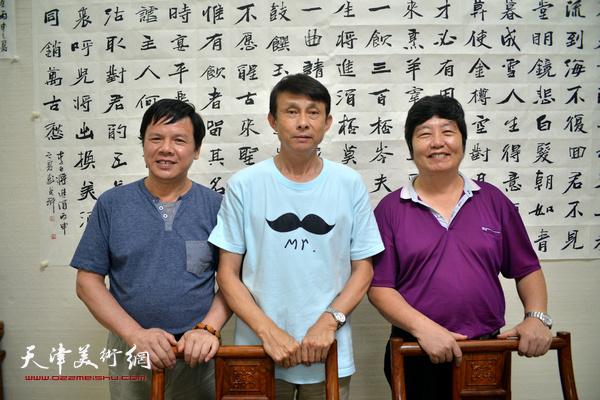 """""""三实学堂""""彭英科、王惠民、李根友在一起"""