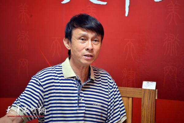 著名书法家彭英科做客天津美术网