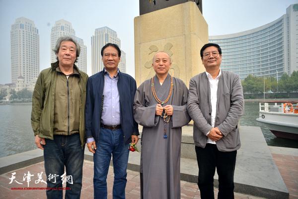 左起:张亚光、马寒松、智如、张佩刚在启动仪式上。