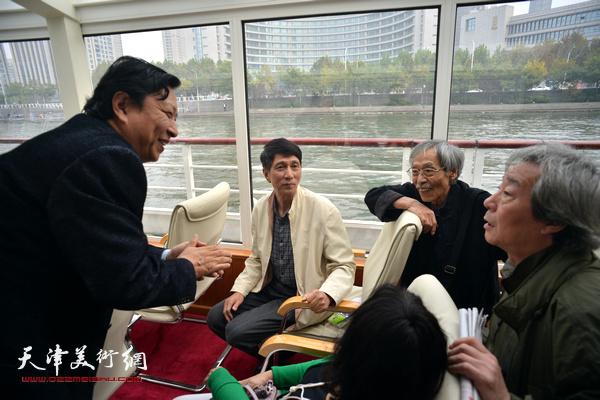 姚景卿、张寿庠、张亚光、王连宏在启动仪式上。
