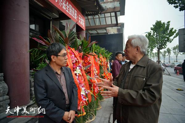 刘锫金、陈起平在启动仪式上。
