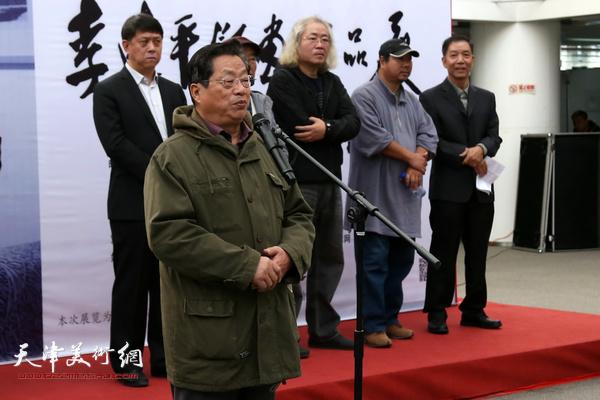 著名版画家赵海鹏老师致辞