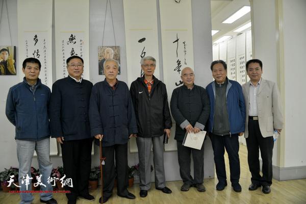 左起:范扬、王宝忠、顾志新、杨德树、尹沧海、霍然、王晓通。
