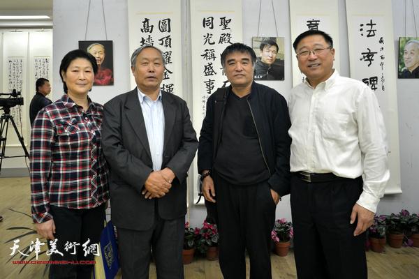 左起:张颖、唐云来、侯军、王宝忠。